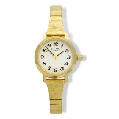 Ladies Rotary Gold Pvd Stainless Steel Expandable Bracelet Watch