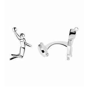 Links of London Sale – Sterling Silver Basket Ball Pictogram T-Bar Cufflinks - 2012 Olympic Collection