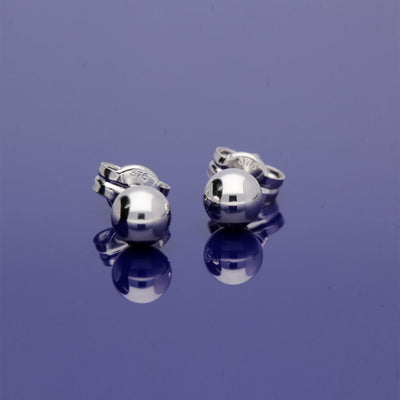 9ct White Gold 4mm  Ball Stud Earrings