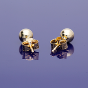 9ct Yellow Gold Small Ball Stud Earrings