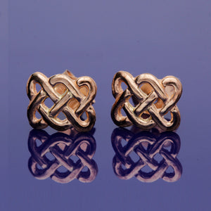 9ct Rose Gold Celtic Deisgn Studs
