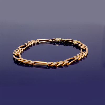 9ct Yellow Gold Figaro Style Bracelet
