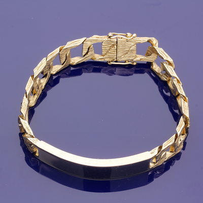 9ct Yellow Gold ID Chain Bracelet