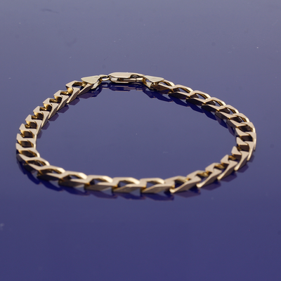 9ct Yellow Gold Link Curb Chain Bracelet