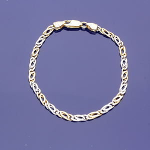 18ct Yellow and White Gold Chain Bracelet