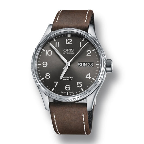 Oris Big Crown ProPilot Big Day/Date Men's Leather Strap Watch, 752-7698-4063