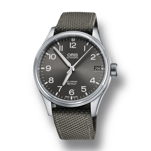 Oris Big Crown ProPilot GMT, Small Second Automatic Men's Nato Strap Watch, 748-7710-4063