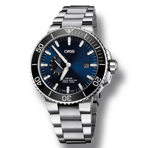 Oris Aquis Small Second, Date Automatic Men's Bracelet Watch, 743-7733-4135