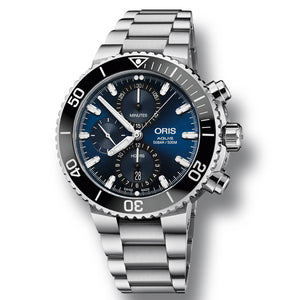 Oris Aquis Chronograph Automatic Men's Bracelet Watch, 774-7743-4155