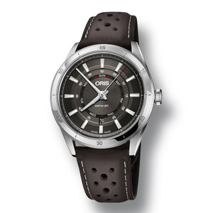 Oris Artix GT Day Date Automatic Men's Leather Strap Watch, 735-7751-4153