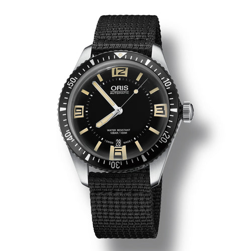 Oris Divers Sixty-Five Automatic Men's Nato Strap Watch, 733-7707-4064