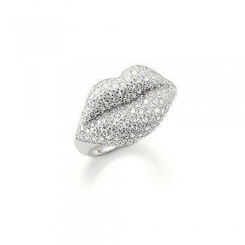 Thomas Sabo Cubic Zirconia Pavé Lips Ring TR1881-051-14