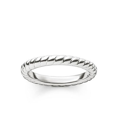 Thomas Sabo Plaited Silver Ring 1978-001-12