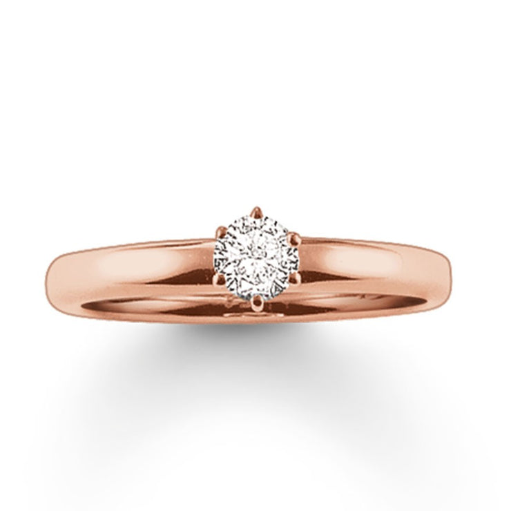 Thomas Sabo Rose Gold Ring TR1982-416-14