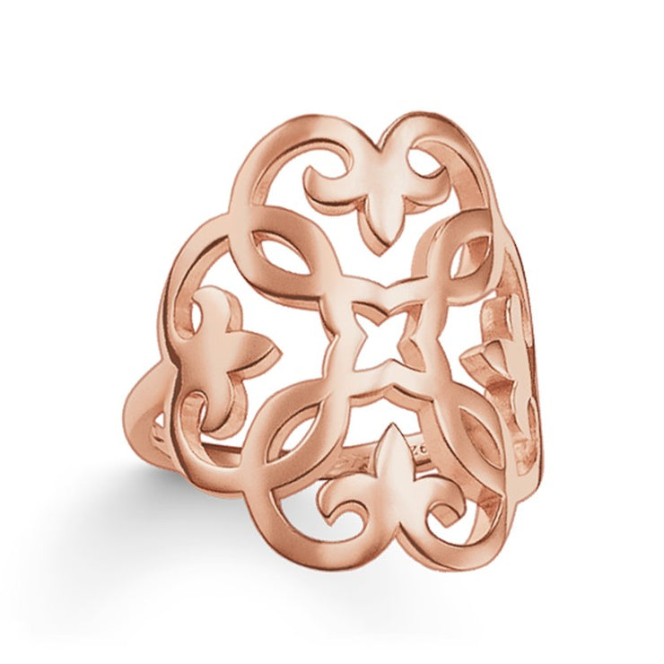 Thomas Sabo Rose Gold Ornament Ring TR1988-415-12