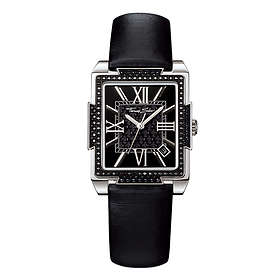 Ladies' Thomas Sabo Rectangle Date Leather Strap Watch, WA0043-209-203