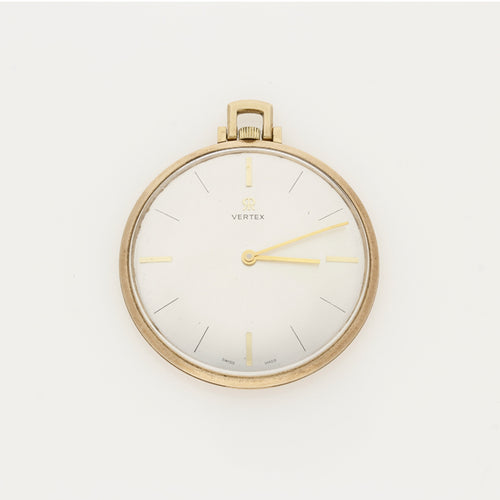 Gentleman's Vertex 9ct Yellow Gold Manual Wind Pocket Watch