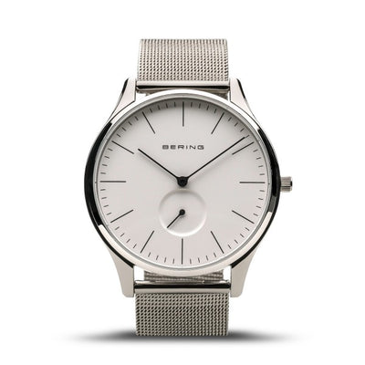 Mens Classic Bering 41mm Stainless Steel Milanese Bracelet Watch, 16641-004