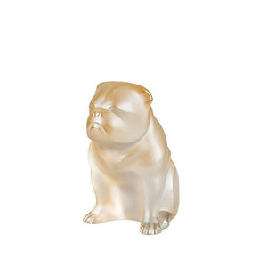 Lalique Sitting Bulldog - Gold Luster