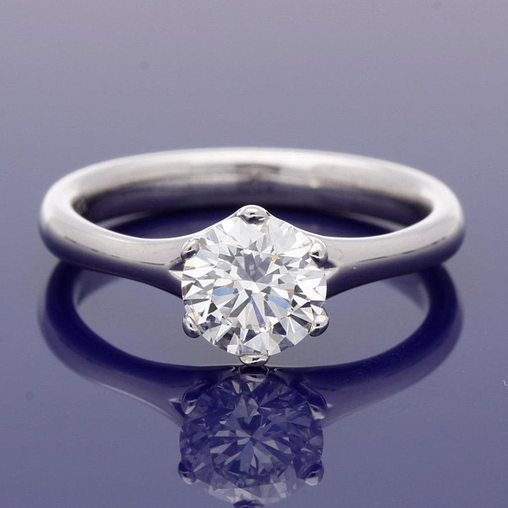 18ct White Gold 1.02ct Diamond Solitaire Engagement Ring
