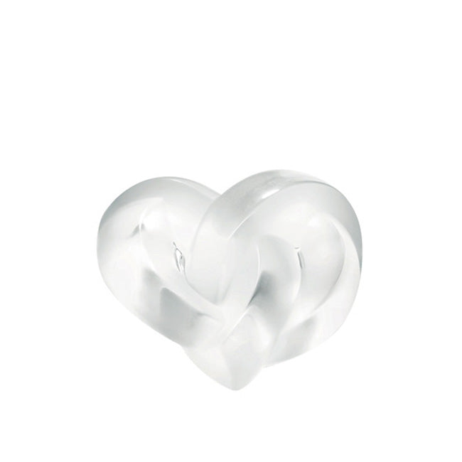 Lalique Intertwined Heart Paperweight - Clear