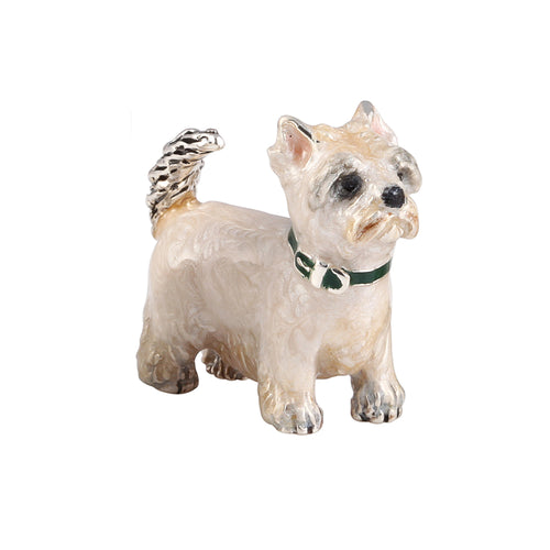 Silver Enamel West Highland Terrier - Small