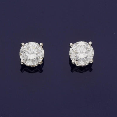 2ct VS Diamonds Stud Earrings – IGI Certificated Laboratory Grown Diamonds
