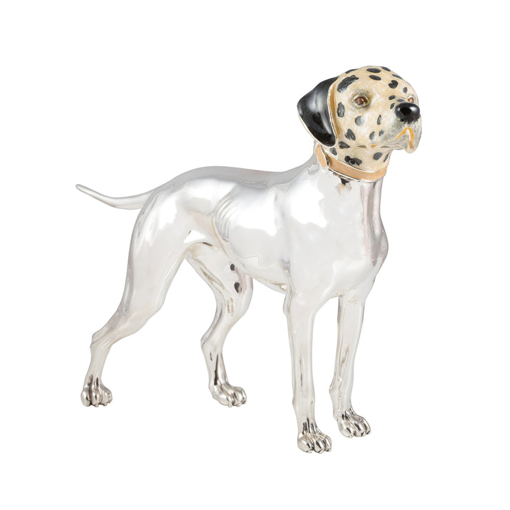 Silver Dalmatian with Enamel Head
