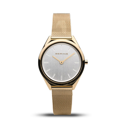 Ladies Classic Bering 31mm Gold PVD Stainless Steel Milanese Bracelet Watch, 17031-334