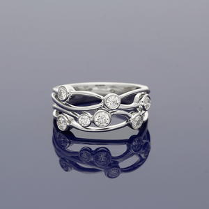 Platinum and Diamond Scatter Dress Ring