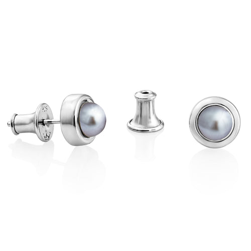 Jersey Pearl 5mm Alice Silver Freshwater Pearl Studs