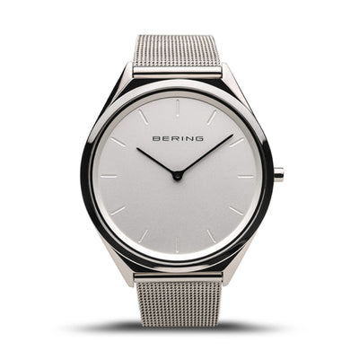 Men's Classic Bering 39mm Stainless Steel Milanese Bracelet Watch, 17039-000