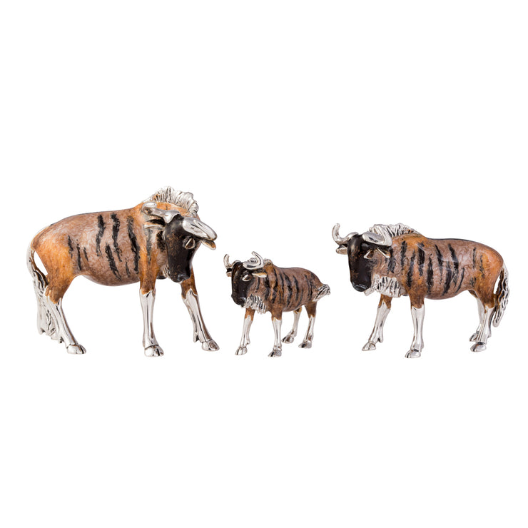 Silver and Enamel Wildebeest - Small