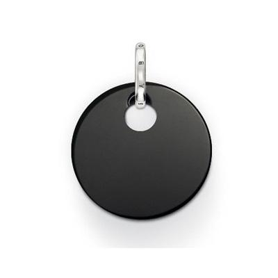 Thomas Sabo Sale – Special Addition Small Round Onyx Disc Pendant PE428-024-11