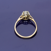 18ct Yellow Gold Old Cut Diamond Solitaire Ring