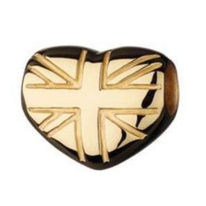 Links of London Play Bead –18kt Yellow Gold Vemeil Union Jack Heart Play Bead