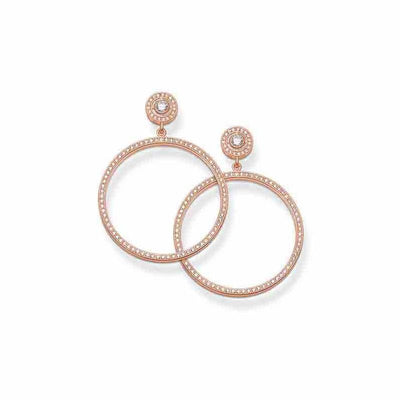 Thomas Sabo Rose Gold Hoops H1823-416-14