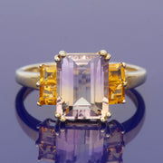 9ct Yellow Gold Ametrine and Yellow Topaz Dress Ring