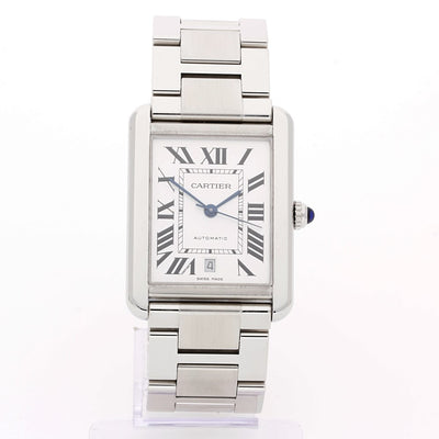 Gents Cartier Stainless Steel Tank Solo Xl Auto 3800 Watch
