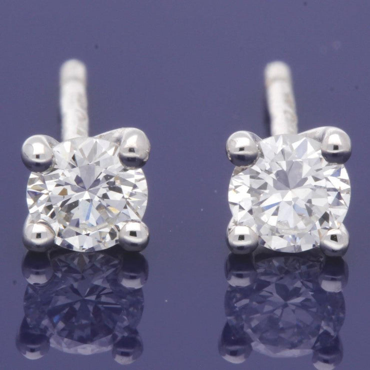 18ct White Gold 0.45ct Diamond Stud Earrings