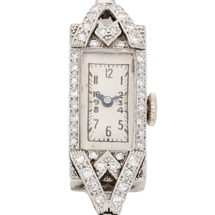 Ladies Manual Wind Diamond Set Cocktail Bracelet Watch