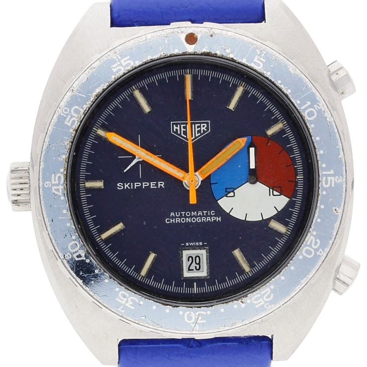 Gents Vintage Heuer Skipper 15650B. Cal 15 Automatic Chronograph Stainless Steel