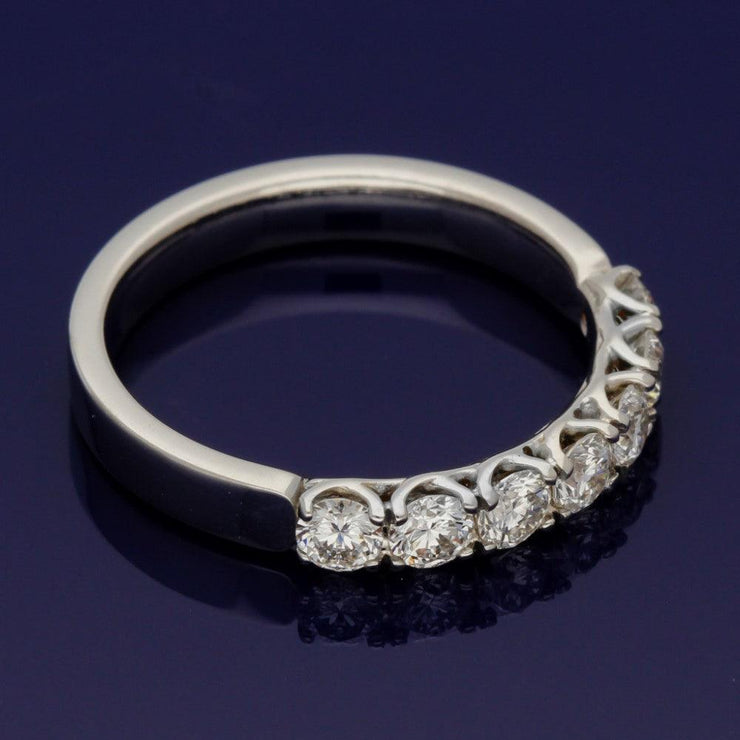18ct White Gold 7-Stone 0.94ct Diamond Half Eternity Style