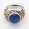 Blue Love Angel Cupid Ring-Gothicrock