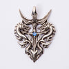 Sterling Silver Celtic Dragon Pendant-Gothicrock