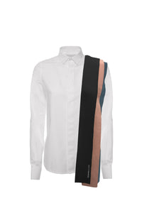 Shirt with stripe application