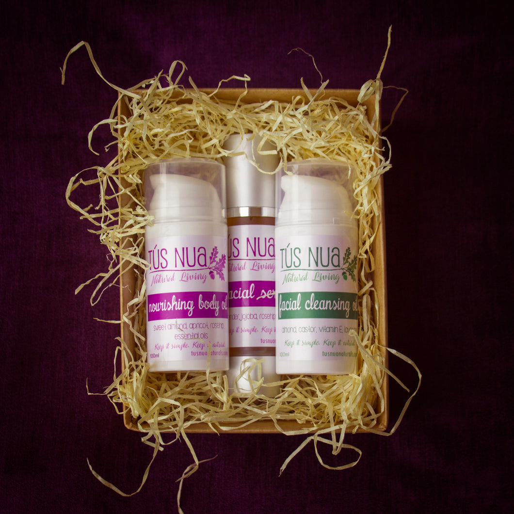 The Essentials Set - body oil, cleansing oil & facial serum