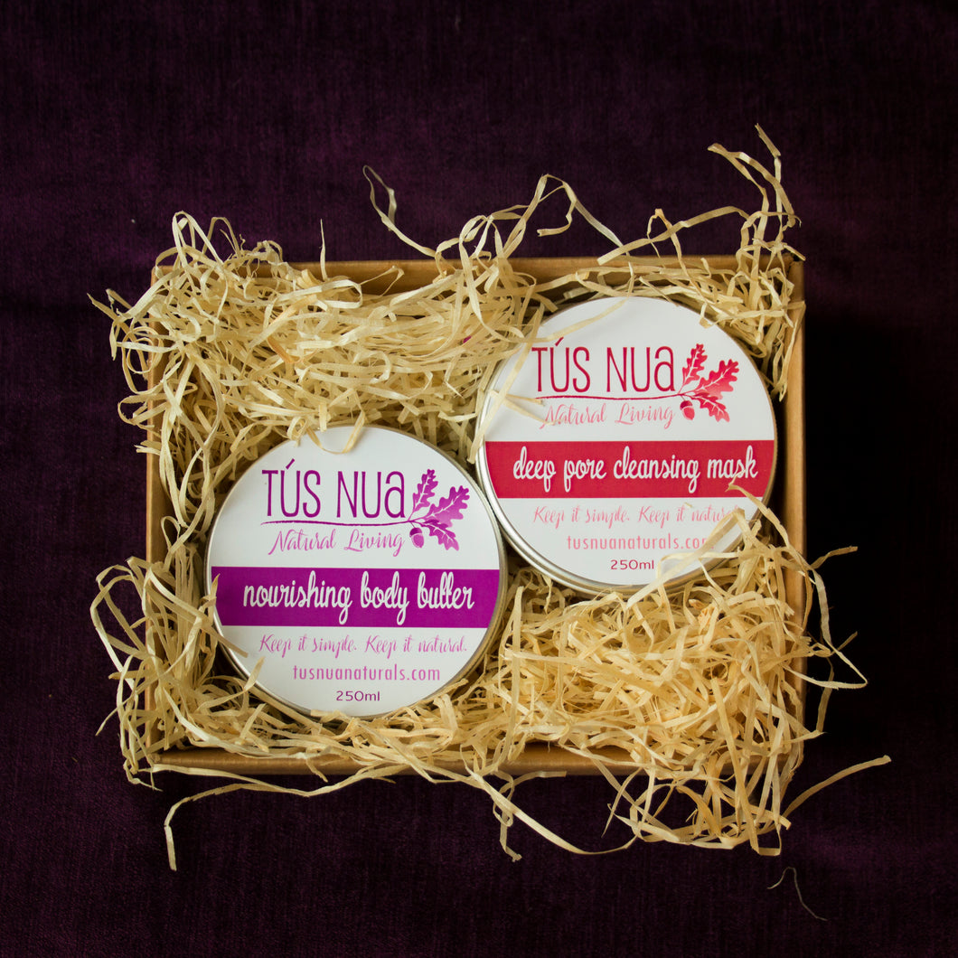 The Pamper Set - cleansing mask & body butter