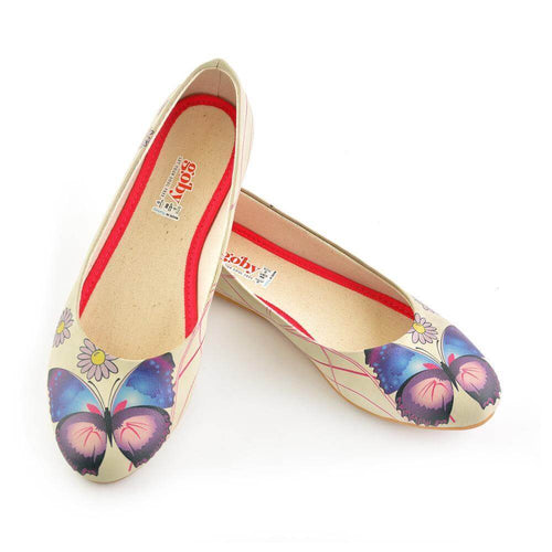 1028 Daisy and Butterfly Ballerinas Shoes