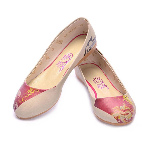 Chinese Dragon Ballerinas Shoes 1037